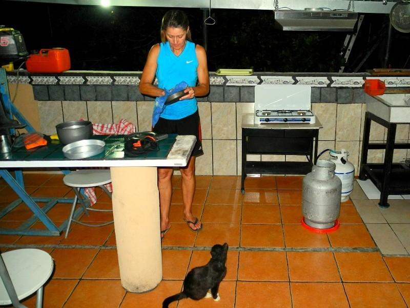In der Kayak Lodge in Damas (Pazifik) konnten wir nicht nur kochen...