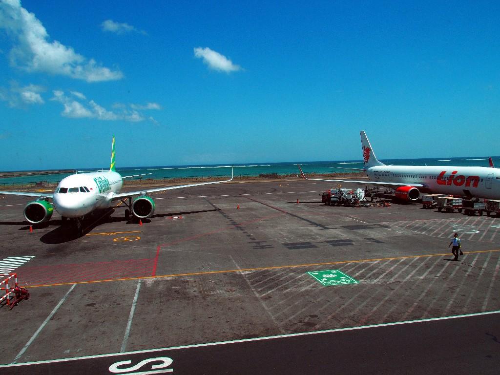 Abflug - Flughafen Ngurah Rai  in Denpassar auf Bali.