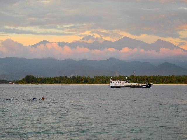 Lange gewartet - Endlich ist der Gunung Rijani wolkenfrei