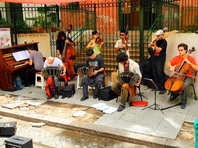 Klassische Tangoband im Stadtteil San Telmo