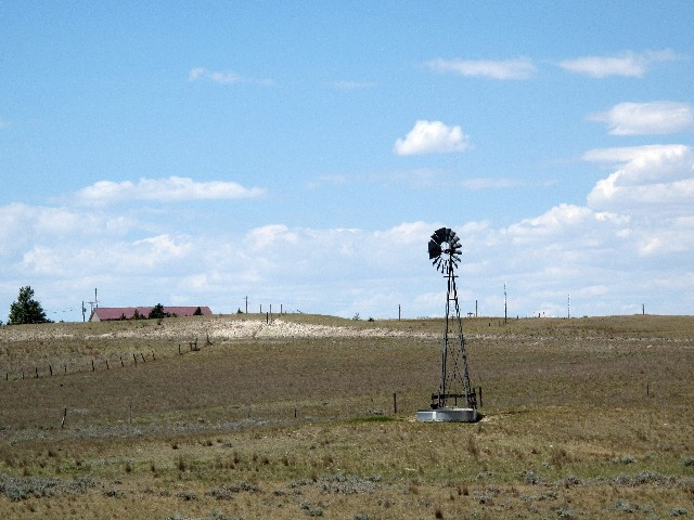 Traditionell - Wasserpumpe in den Great Plains in Wyoming