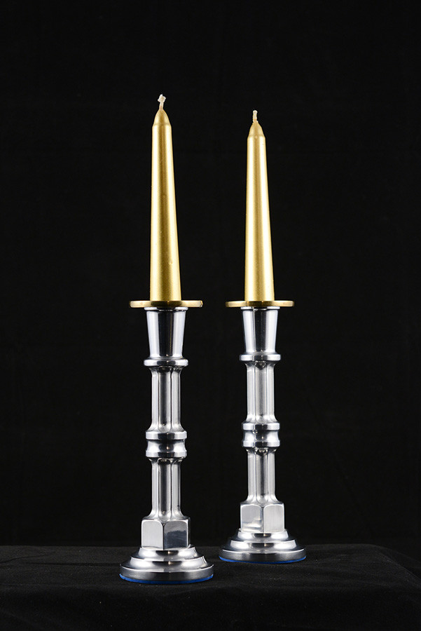 "Chandelier 2"" diameter x 7"" height, aluminium and brass, 2006."