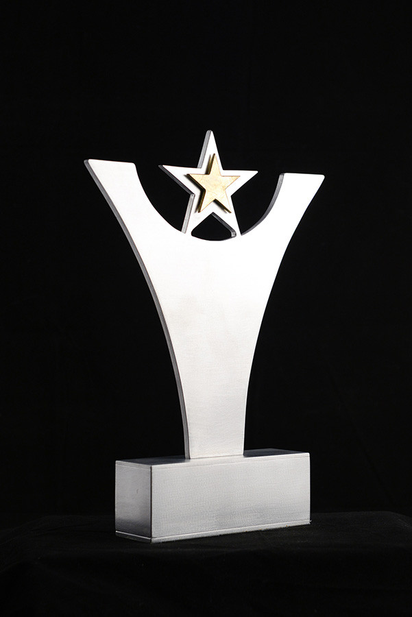 "TrophéAward, 12""height x 10"" length, aluminium, 2011."