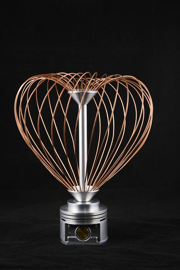 Cœur rotatif, 13'' haut x 9'' diamètre, cuivre, aluminium, 2012 . $1000.00
