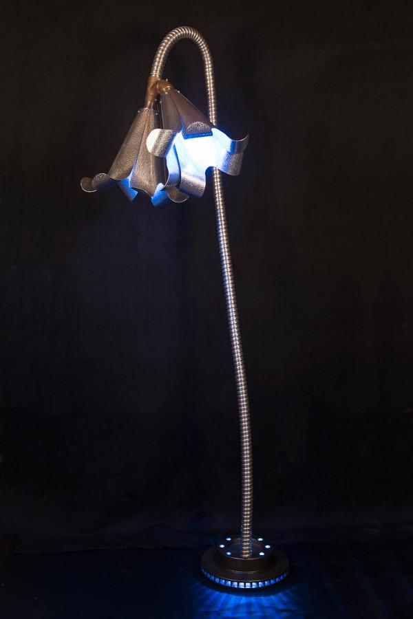 """Delfleur, lamp, 76""""x 36"""", aluminium, 2015"""