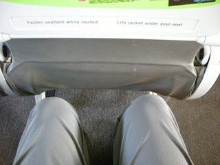 ジェットスターの席。意外と普通。
