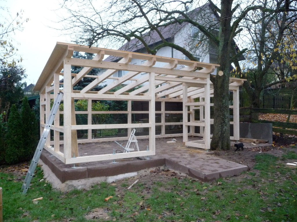 Bau eines Gartenhäuschens