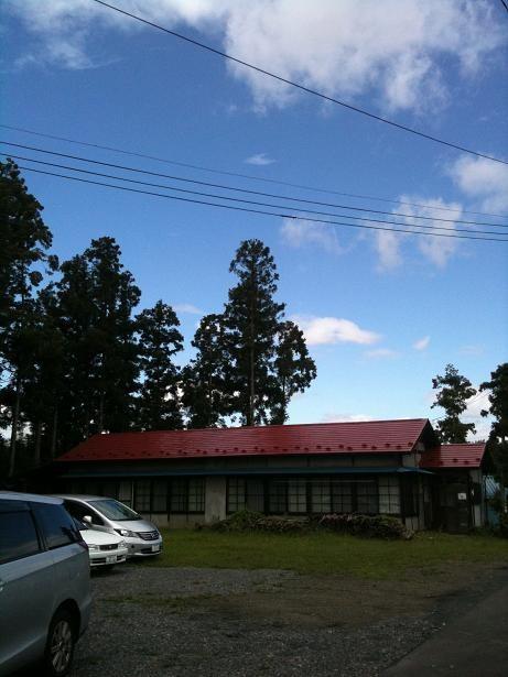 秋晴れの須賀川シオンの丘