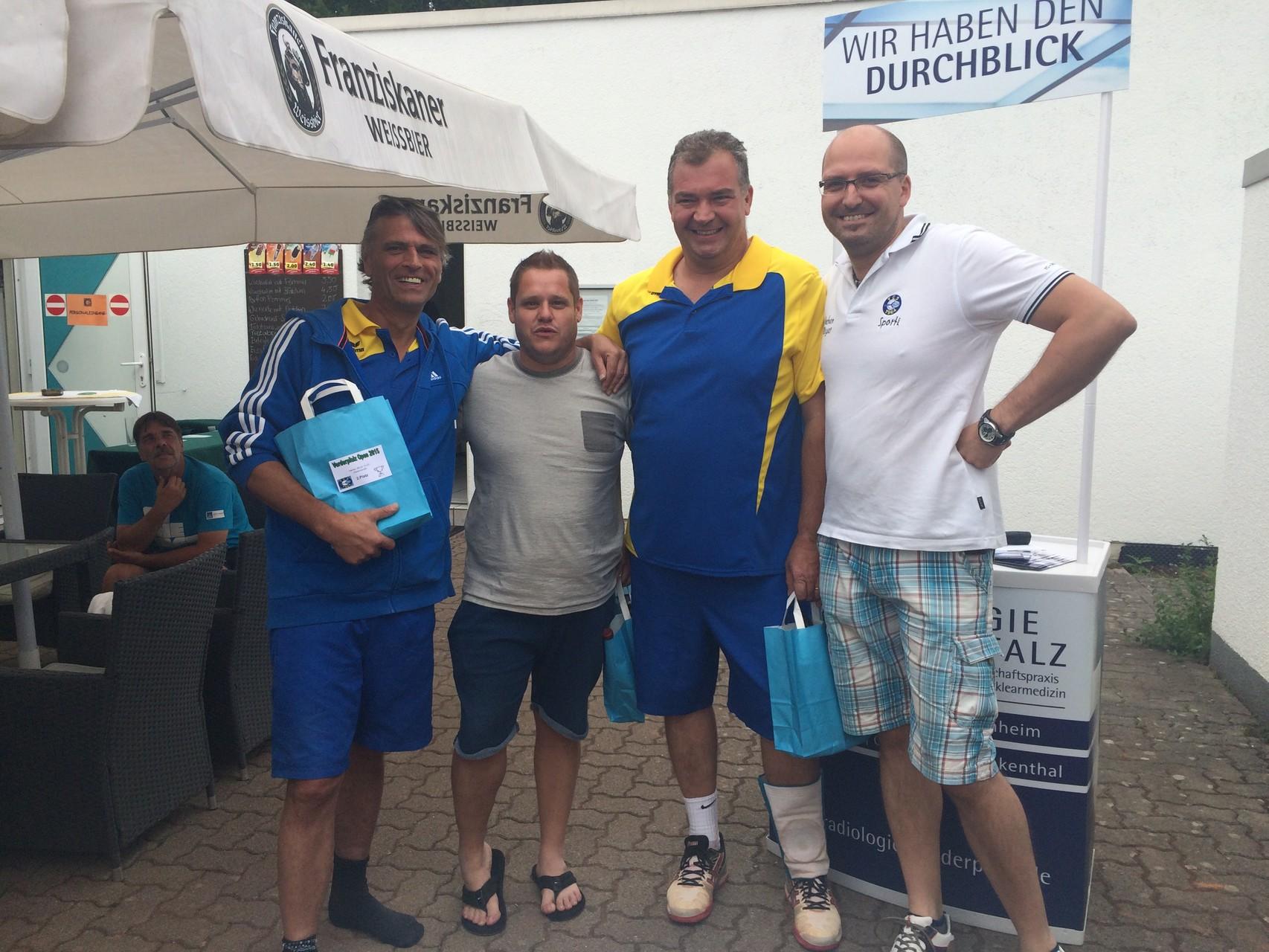 Herren 30 LK 15-23 NR: v.l. 2.Franz-Josef Kolb (TC Schifferstadt),  3.Sascha Krupp (TC Schifferstadt), Sieger Steffen Rüth (TC Schifferstadt)