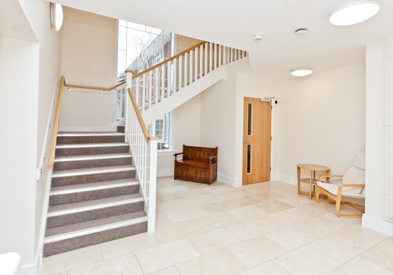Main staircase from hallway