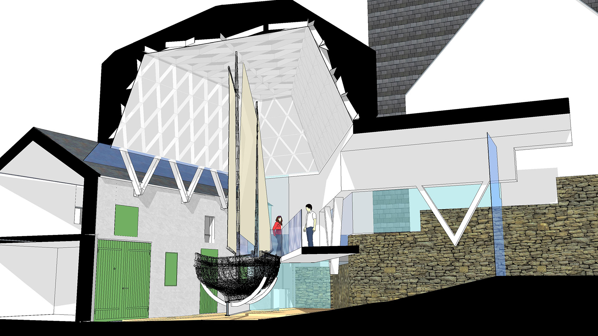 Modus Architects/Jeremy Humphries to Develop New Visitor Centre at The Nautical Museum Castletown