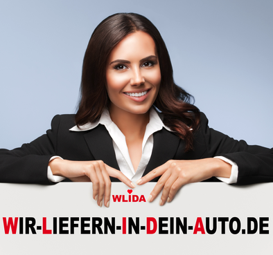 saarclean.de, über uns, wir liefern in dein Auto, Bild mit Frau und WLIDA-Text