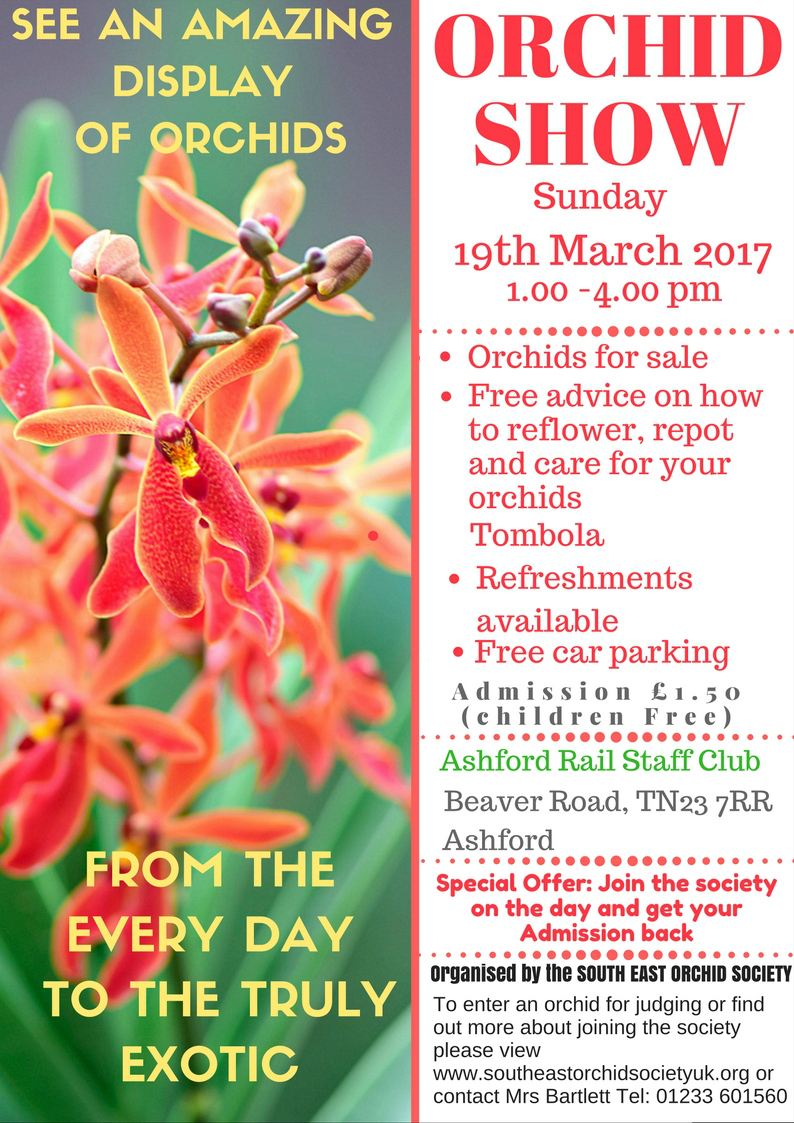 South East Orchid Society Spring Show 2017