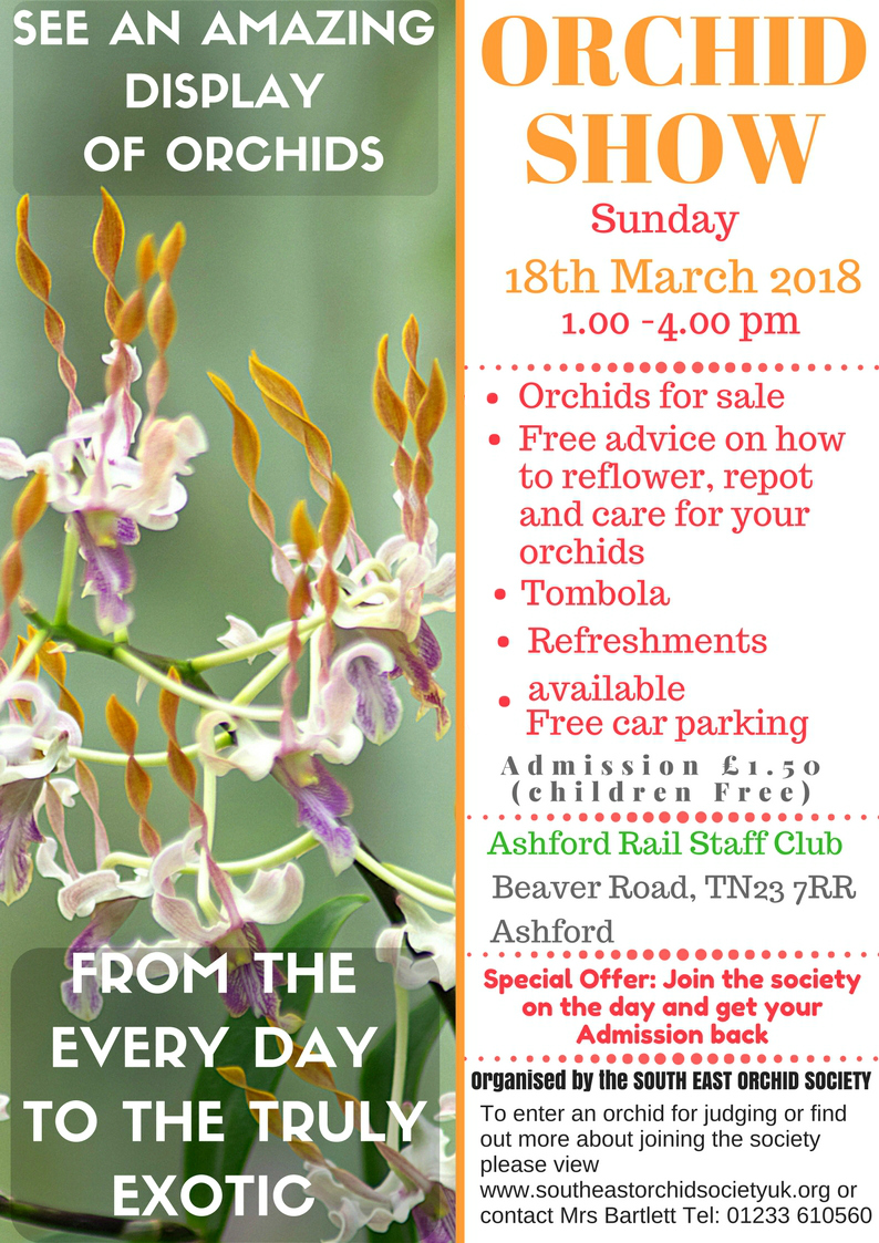 Spring Show 2018 South East Orchid Society
