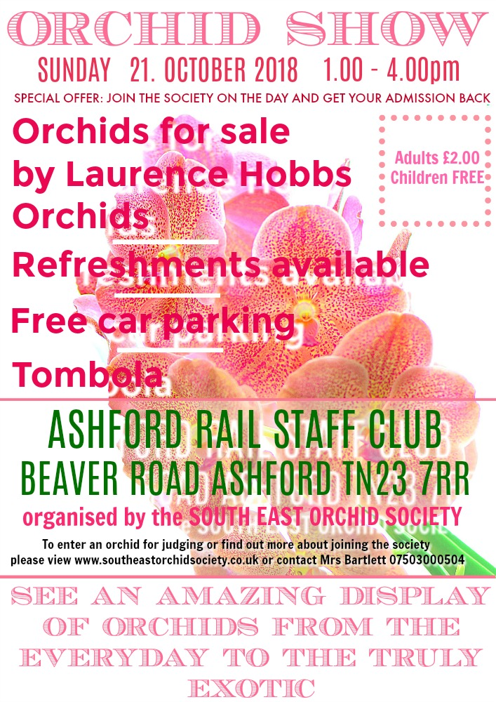 Autumn Show South East Orchid Society in Ashford / Kent