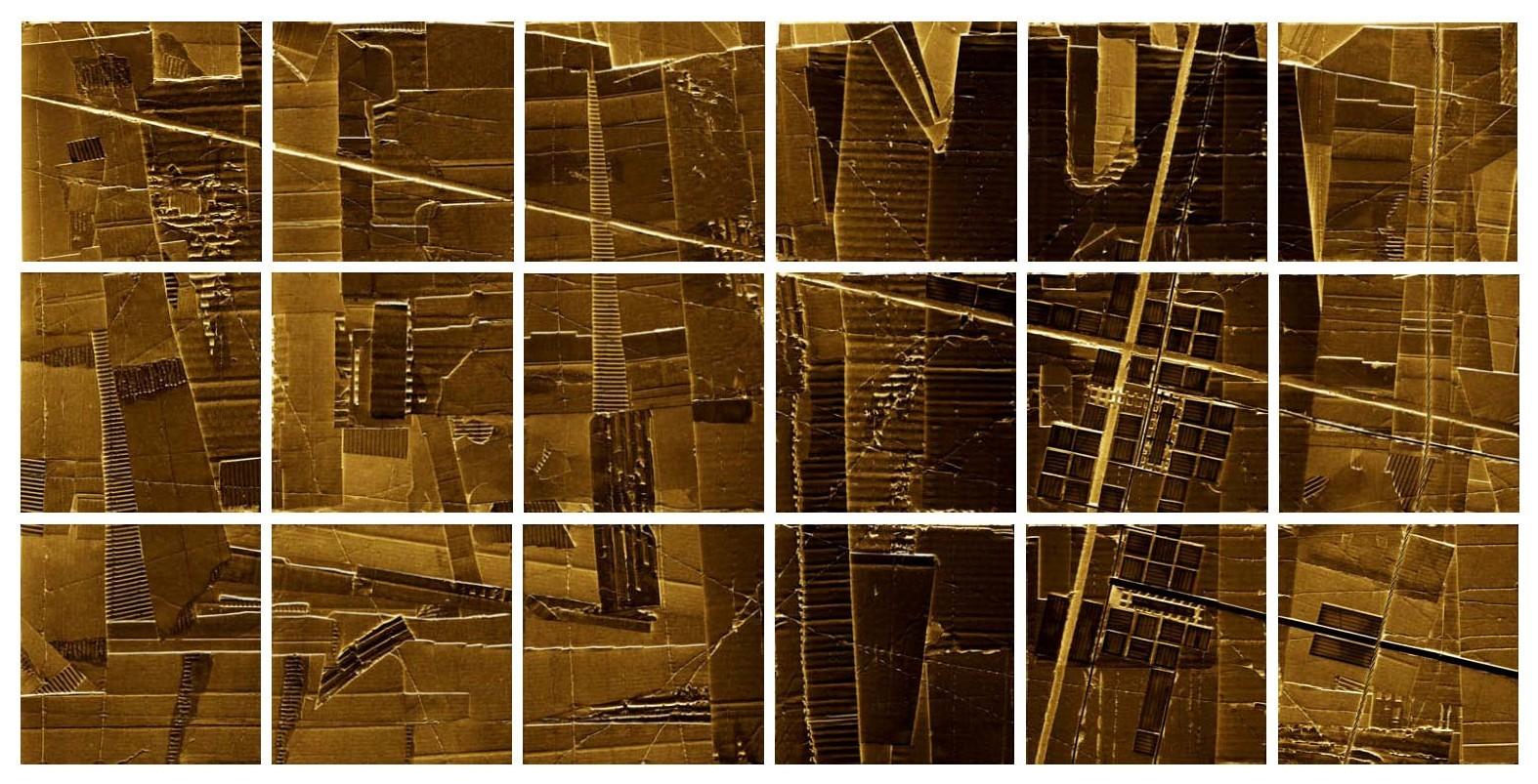 """urbanaurea: sito A - au"" / AD012-02a / formati: originale [o] cm 150 x 75 - riproduzione ridotta [r] cm 92 x 43"