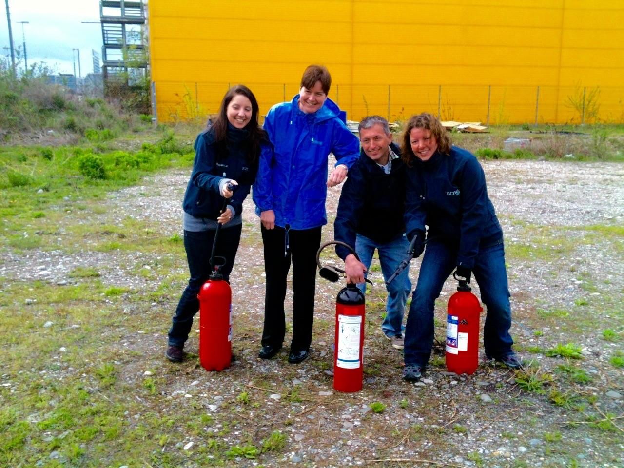 Brandschutz Kurse mit Handfeuerlöschern