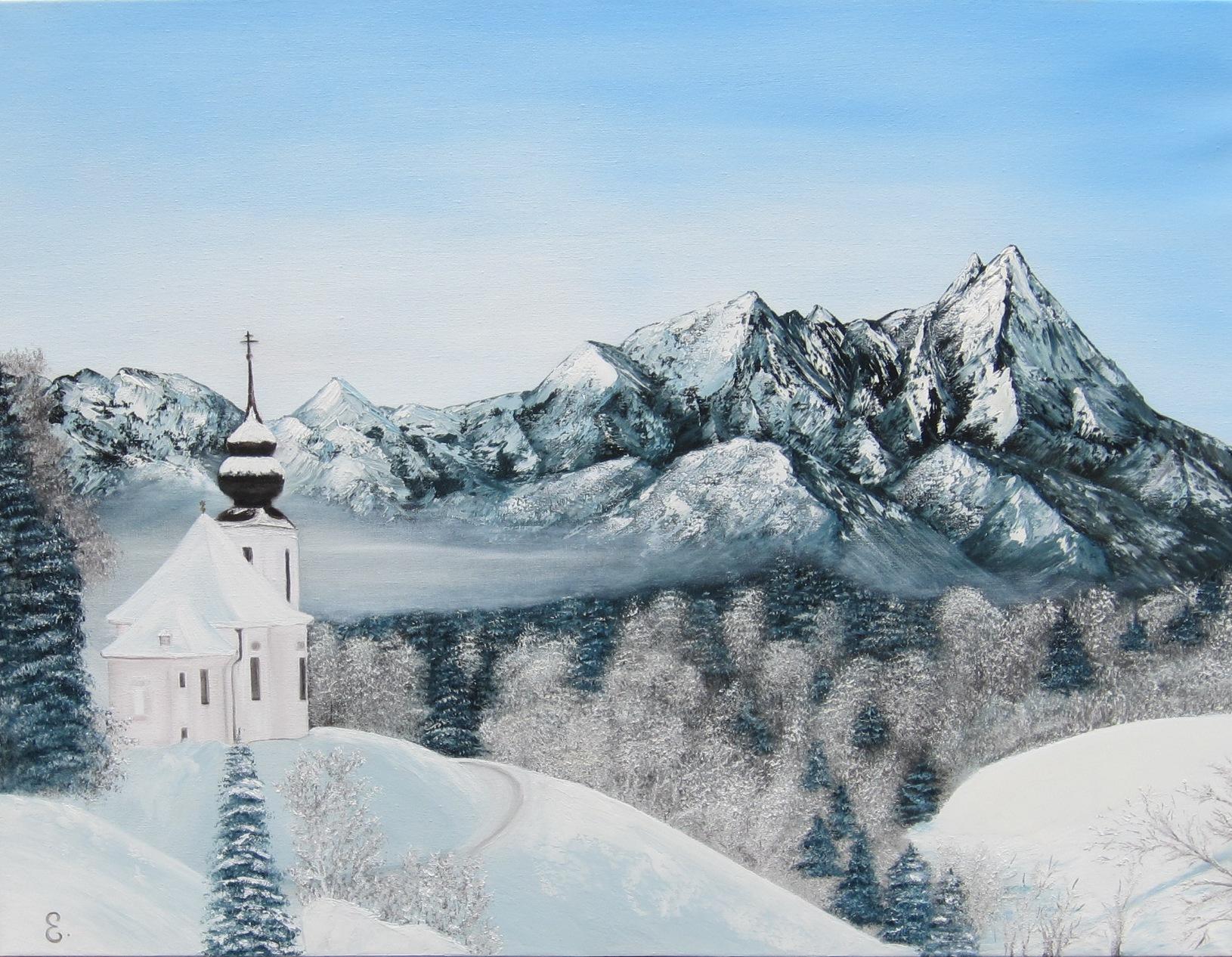 """""""Winter-time"""" - oil, canvas 60х80, 2017"""