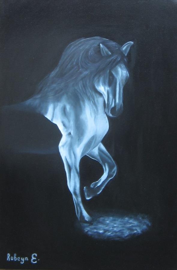 """Black and white"" - oil, canvas 60х40, 2017"