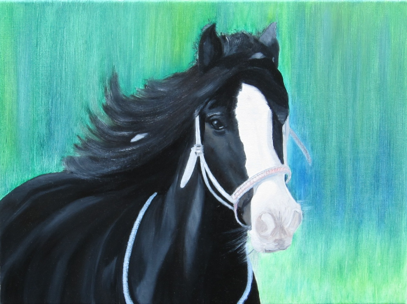 """Horse"" - oil, canvas 30х40, 2017, Private collection Belgium"