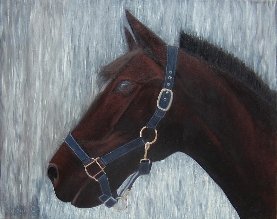 """Portrait of a horse"" -  oil, canvas 40х50, 2017"