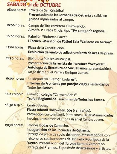 Programa Fiestas Todos los Santos en Socuéllamos