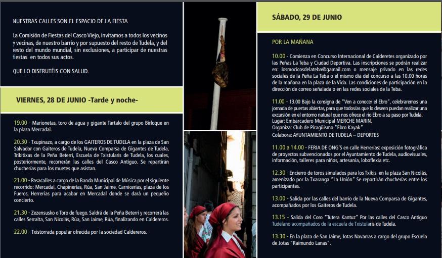 Cartel de las Fiestas de San Pedro 2015 en Tudela (Casco Antiguo)