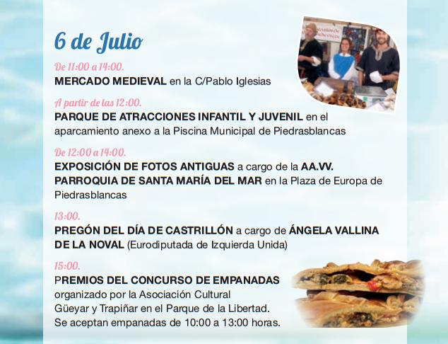 Programa de las Fiestas de Piedrasblancas y Día de Castrillón 2015