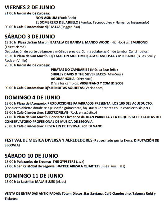 Segovia Festival de Musica Diversa