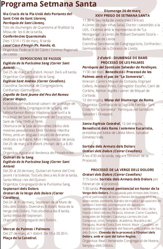 Procesiones de la Semana Santa de Lleida