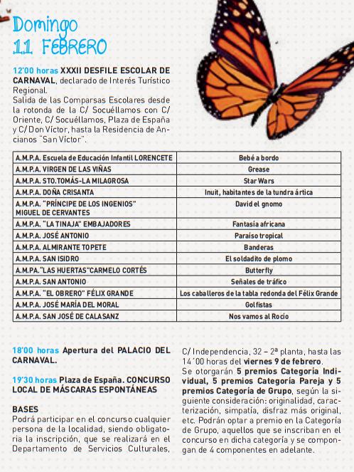 Carnaval de Tomelloso Programa y Cartel