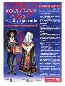 Cartel y programa de la Fiesta de la Charrada en Ciudad Rodrigo