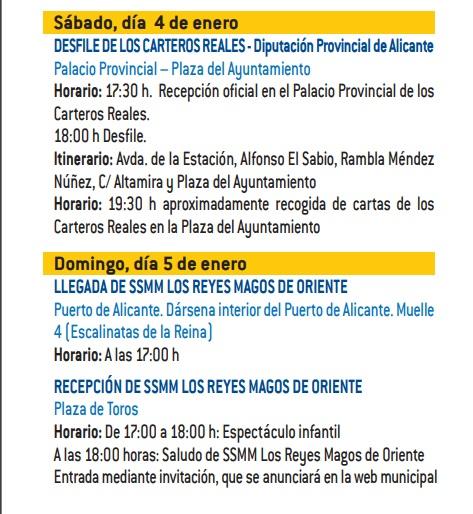 Cabalgata de Reyes de Alicante