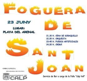 Fiestas en Calpe Foguera de Sant Joan