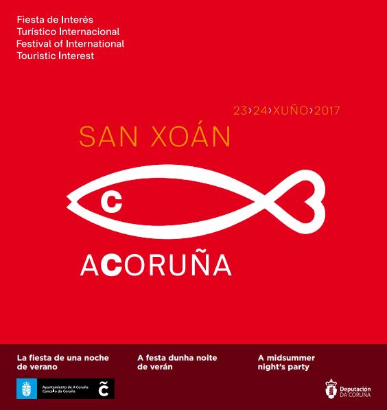 Hogueras de San Juan en A Coruña