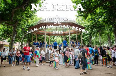 Cartel y programa de las Fiestas de San Juan y San Pedro 2015 en Nájera