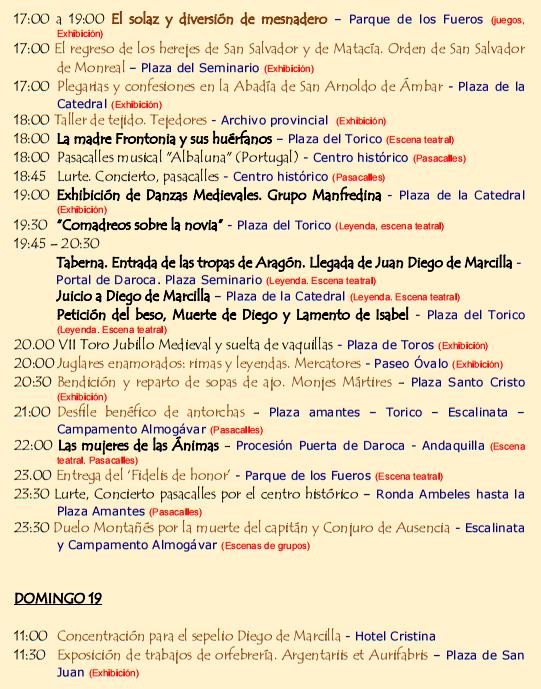 Cuando son las Bodas de Isabel de Segura en Teruel