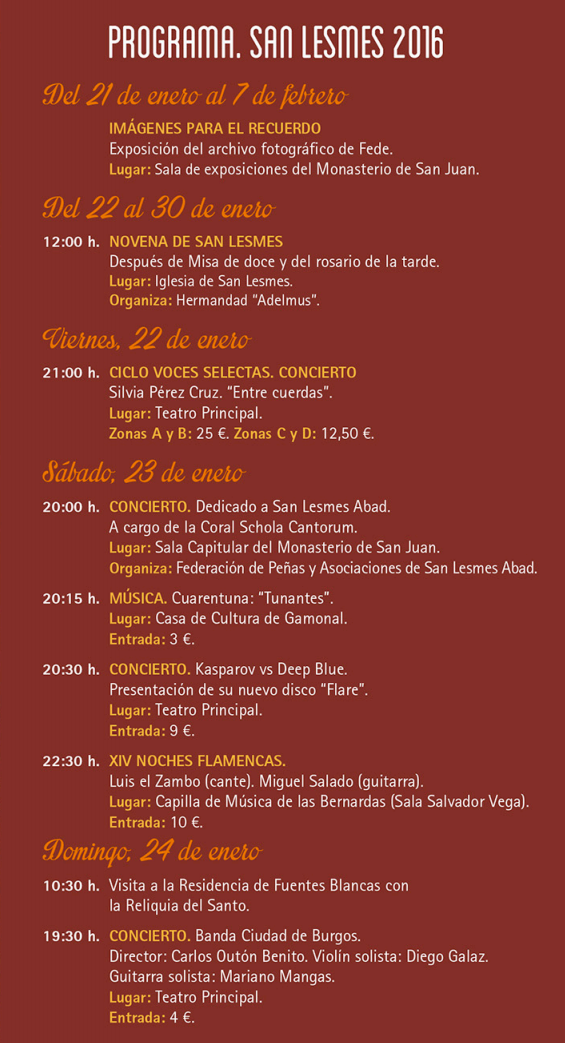 San Lesmes 2016 en Burgos