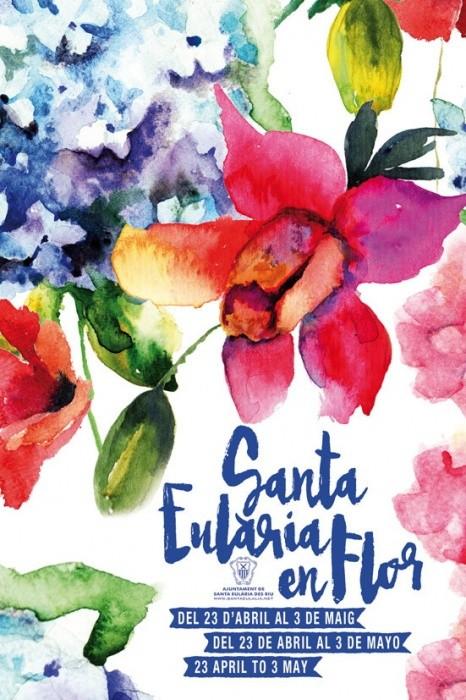 Cartel de Santa Eulària des Riu en Flor 2015