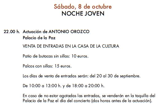 Feria y Fiestas del Rosario en Fuengirola Programa