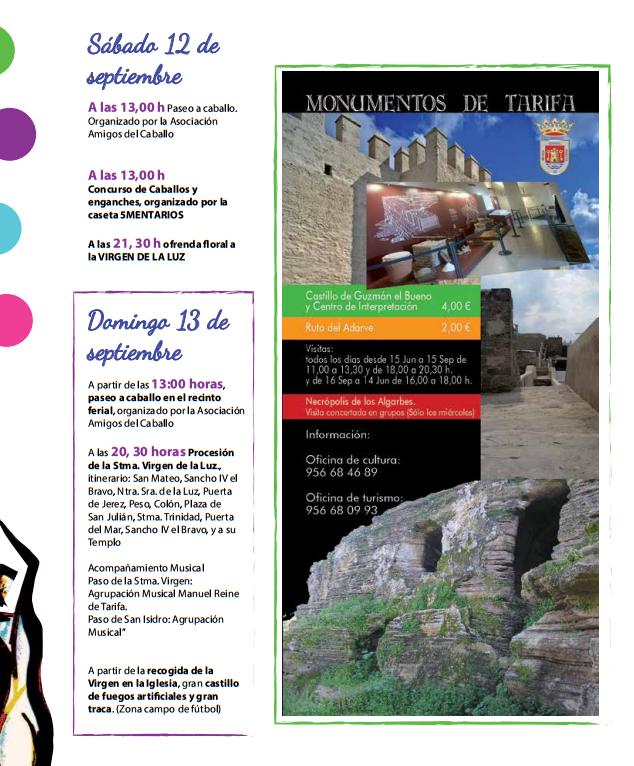 Real Feria y Fiestas de Tarifa 2015 Programa