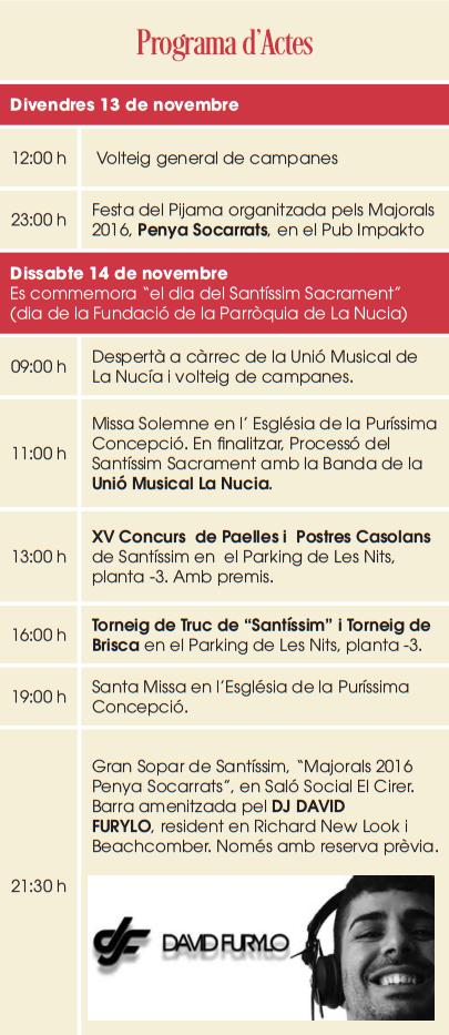 Fiestas de La Nucía 2015 Programa de actos y actividades
