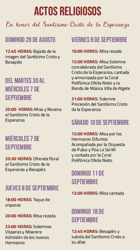 Programa de las Fiestas de Algete
