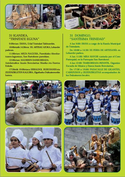 Programa de las Fiestas de Trinidad Trinitate Jaiak 2015 en Elgoibar