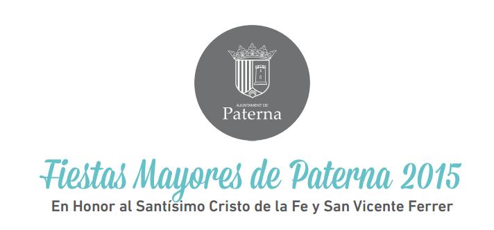 Fiestas Mayores de Paterna 2015 Programa