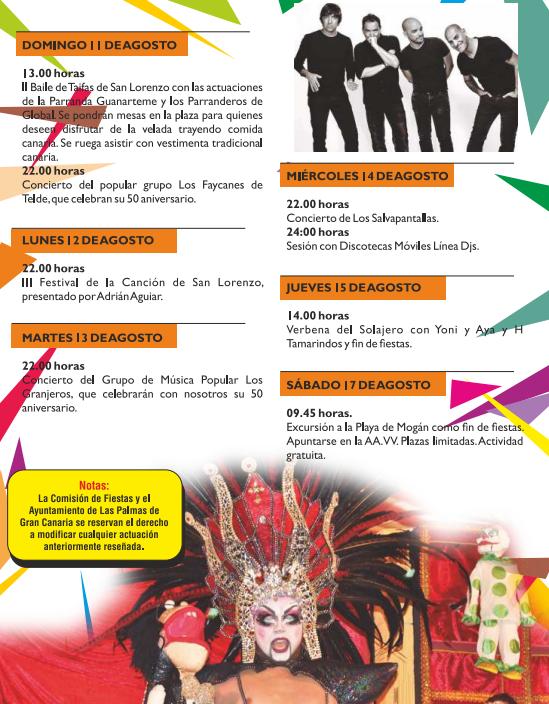 Fiestas De San Lorenzo En Las Palmas Programa De Fiestas