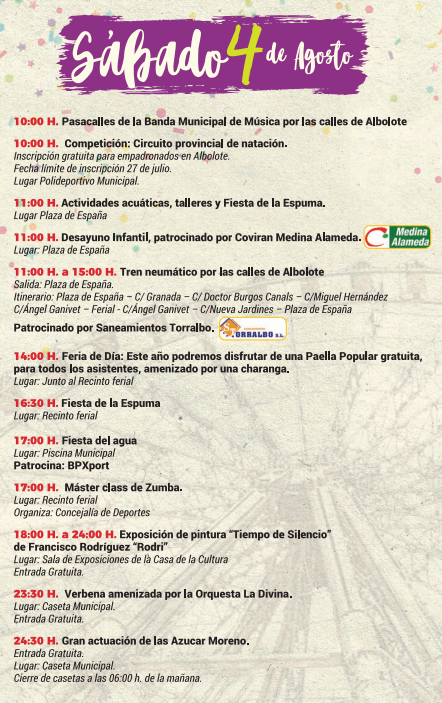 Programa de las Fiestas de Albolote