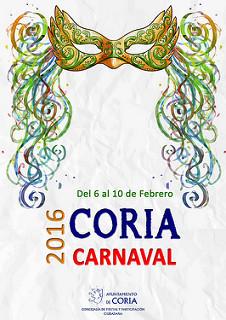 Cartel del Carnaval de Coria del Rio 2016