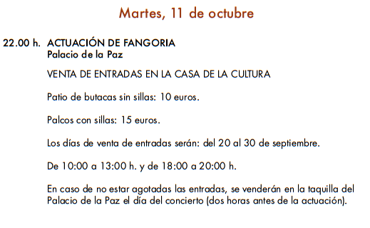 Programa de la Feria y Fiestas del Rosario en Fuengirola