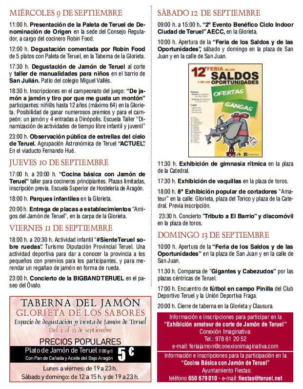 Ferias del Jamón de Teruel 2015
